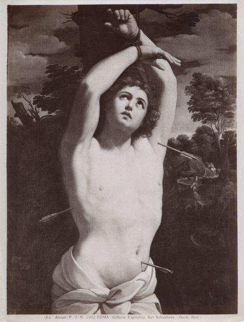 Alinari, Fratelli , Roma - Galleria Capitolina. San Sebastiano. (Guido Reni.) - insieme
