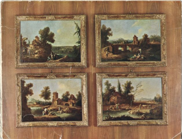 Fondazione zeri catalogo zais giuseppe paesaggio con for Case rustiche foto