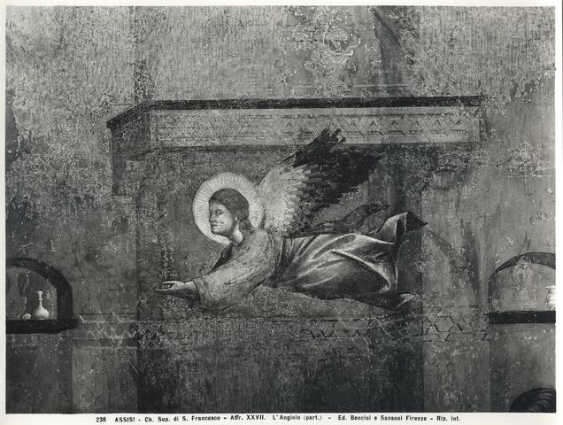 Bencini, Giulio ; Sansoni, Mario , Assisi - Ch. Sup. di S. Francesco - Affr. XXVII. L'Angiolo (part.) - particolare