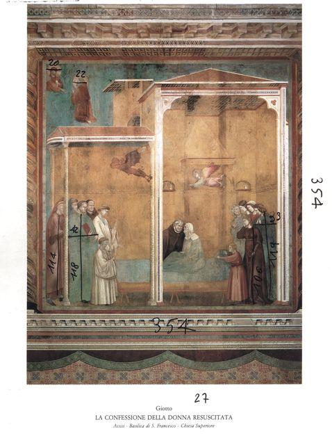 Anonimo , Giotto. La confessione della donna resuscitata. Assisi - Basilica di S. Francesco - Chiesa Superiore - insieme