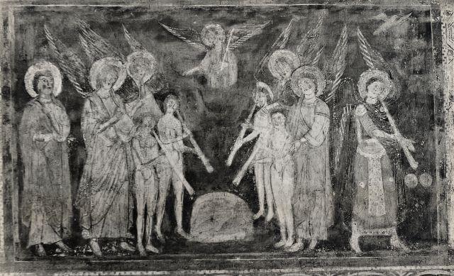 Cine Foto Laboratorio Colonna , Castel S. Elia (Nepi) Affreschi dell'Apocalisse della Chiesa sotto il Santuario - insieme