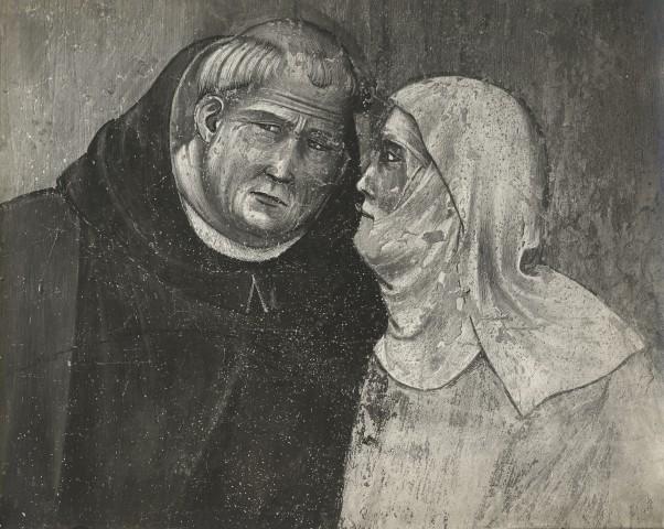Brogi , Assisi. San Francesco resuscita una donna. Giotto - particolare