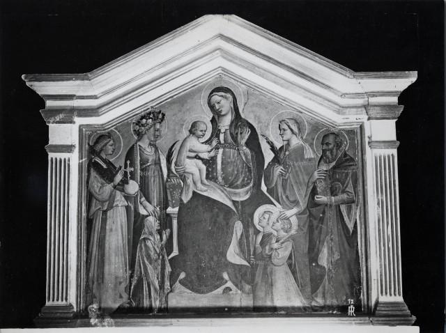 Fondazione zeri catalogo giovanni di marco madonna con bambino in trono tra san michele - San michele mobili catalogo pdf ...