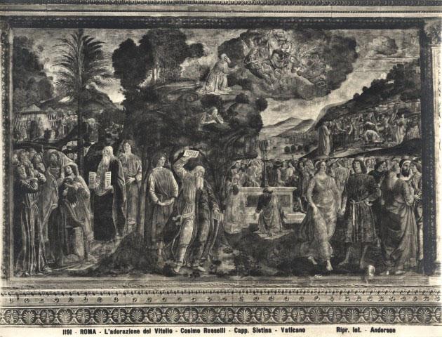 Anderson roma l 39 adorazione del vitello cosimo - Le tavole della legge ...