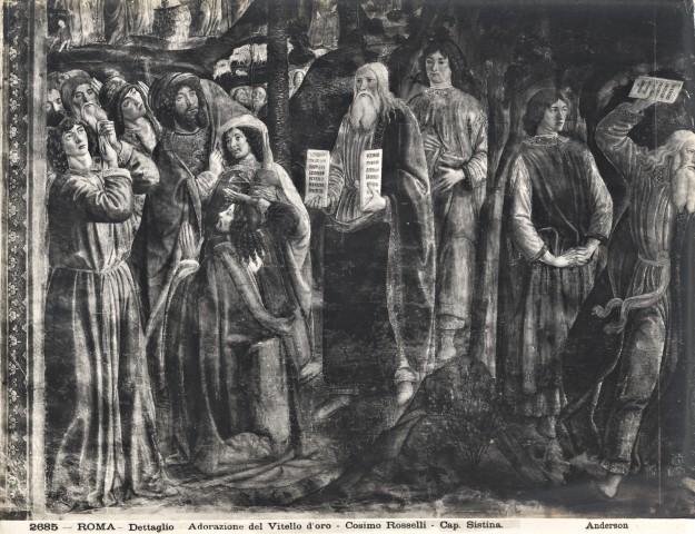 Anderson roma dettaglio adorazione del vitello d 39 oro - Le tavole della legge ...