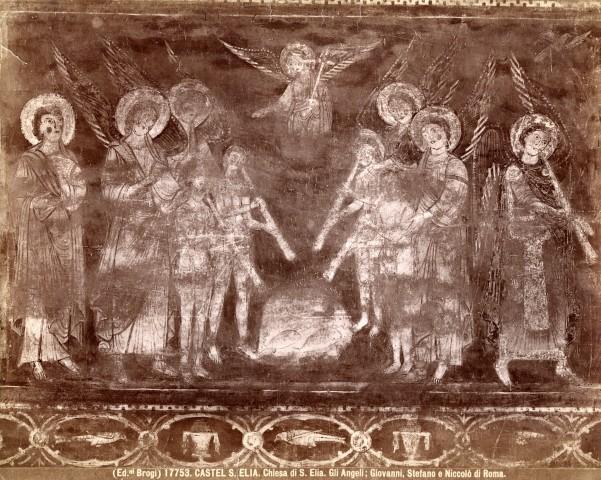 Brogi , Castel S. Elia. Chiesa di S. Elia. Gli Angeli; Giovanni, Stefano e Niccol� di Roma. - insieme