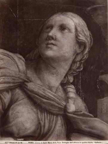 Alinari, Fratelli , Roma - Chiesa di Santa Maria della Pace. Dettaglio dell'affresco le quattro Sibille (Raffaello) - 72680